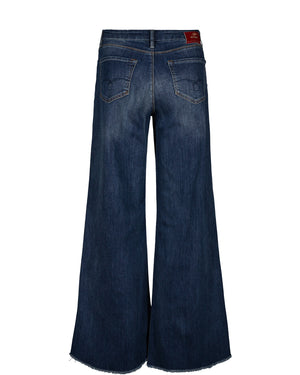 MOS MOSH ZOEY BLOSSOM JEANS BLÅ