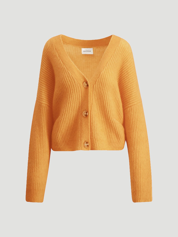 HOLZWEILER DRIVE KNIT CARDIGAN PEACH ORANGE