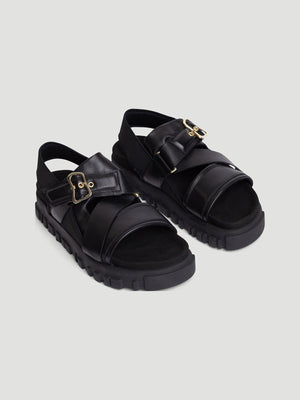 HOLZWEILER W. NATIONAL SANDAL BLACK/GOLD