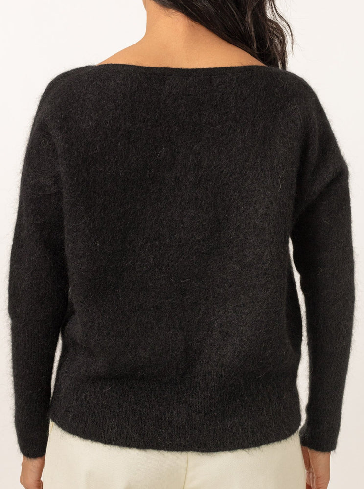 CATHRINE HAMMEL SOFT WIDE CREWNECK BLACK
