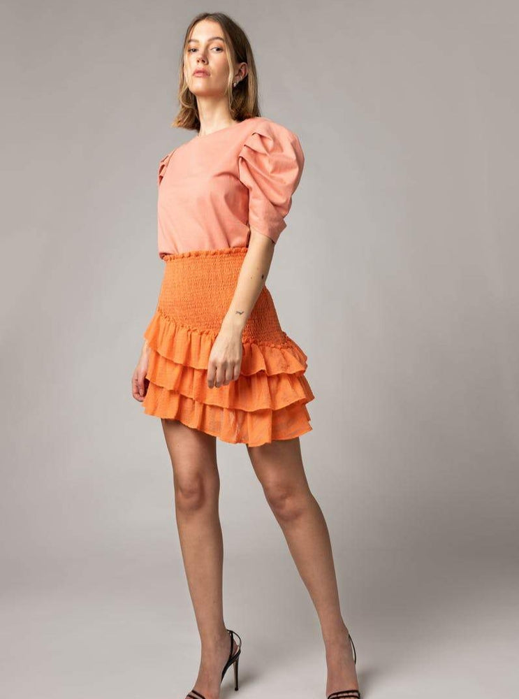 Load image into Gallery viewer, MAUD SUMMER CHECK SKIRT PEACH