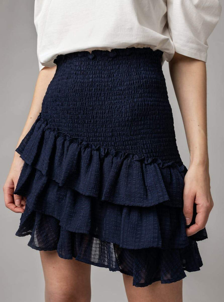 Load image into Gallery viewer, MAUD SUMMER CHECK SKIRT BLÅ