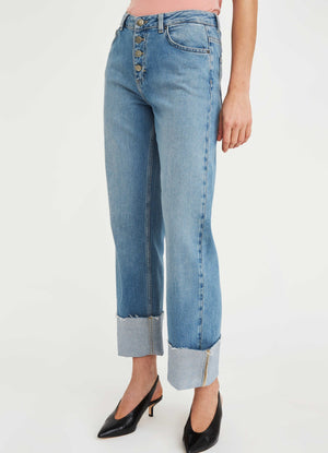 Load image into Gallery viewer, FIVE UNITS LILY 360 FLEX VINTAGE BLUE JEANSBLÅ