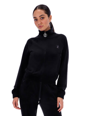 Load image into Gallery viewer, JUICY COUTURE TANYA TRACK TOP BLACK