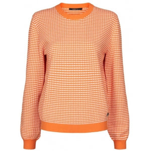 CADDIS FLY KNIT BLOUSE ORANSJE OG ROSA