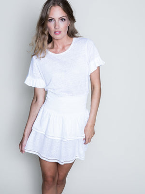 Load image into Gallery viewer, ELLA&IL LARA LINEN TEE WHITE