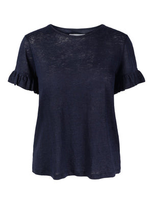 Load image into Gallery viewer, ELLA&IL LARA LINEN TEE NAVY