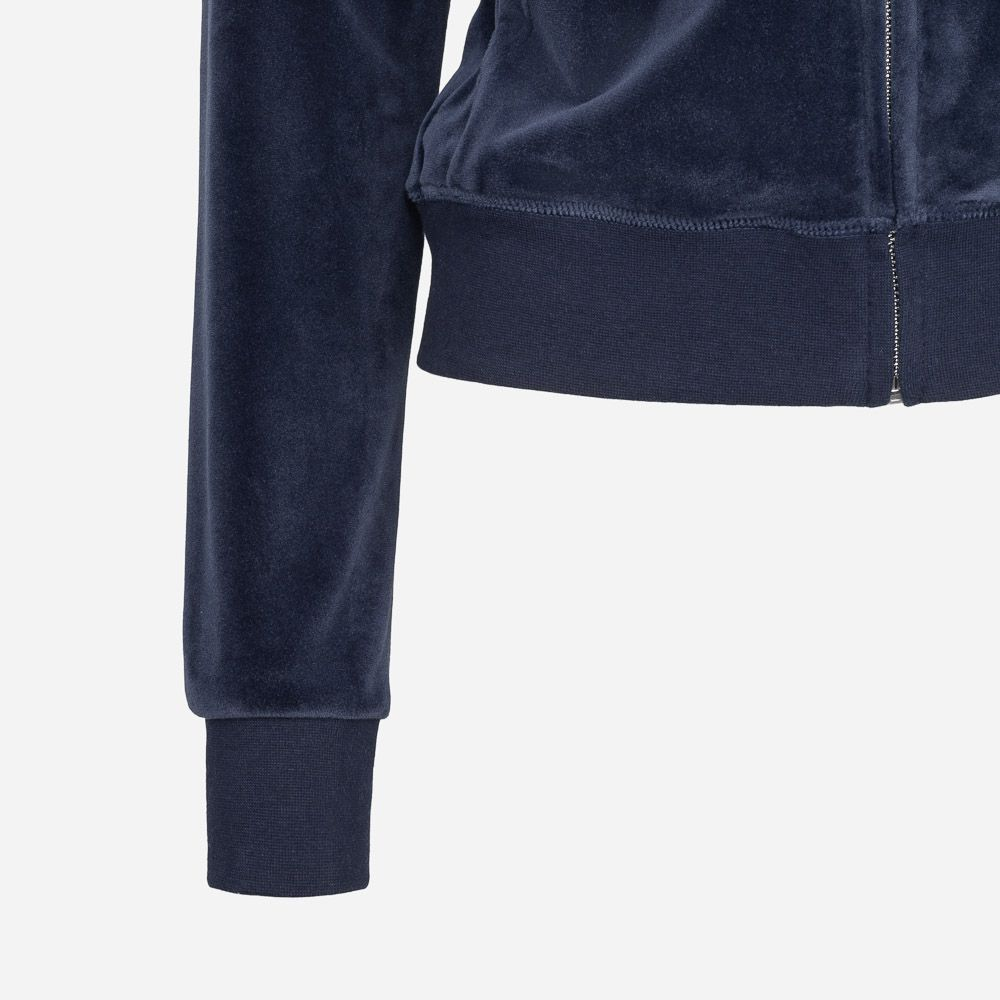 JUICY COUTURE VELOUR ZIP HOODIE NIGHT SKY MØRKEBLÅ