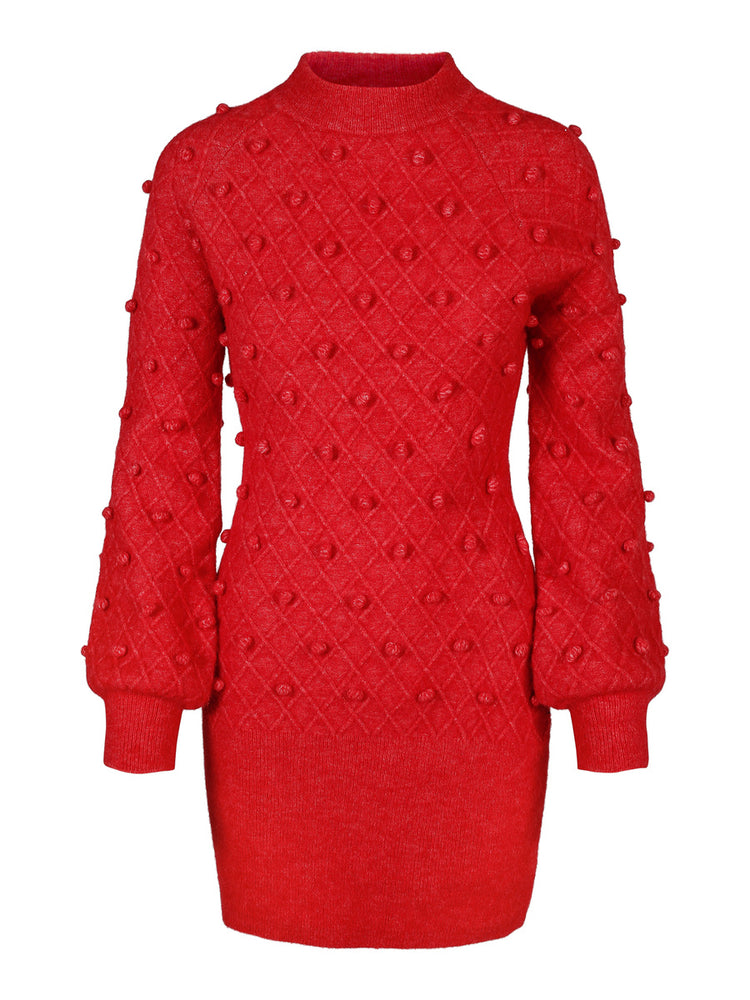 Load image into Gallery viewer, ELLA OG IL TURID ALPACA DRESS RED