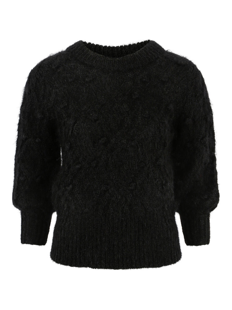 ELLA&IL SIENNA CHUNKY KNIT SWEATER BLACK