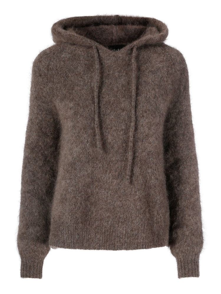 ELLA OG IL RICKY MOHAIR SWEATER BROWN