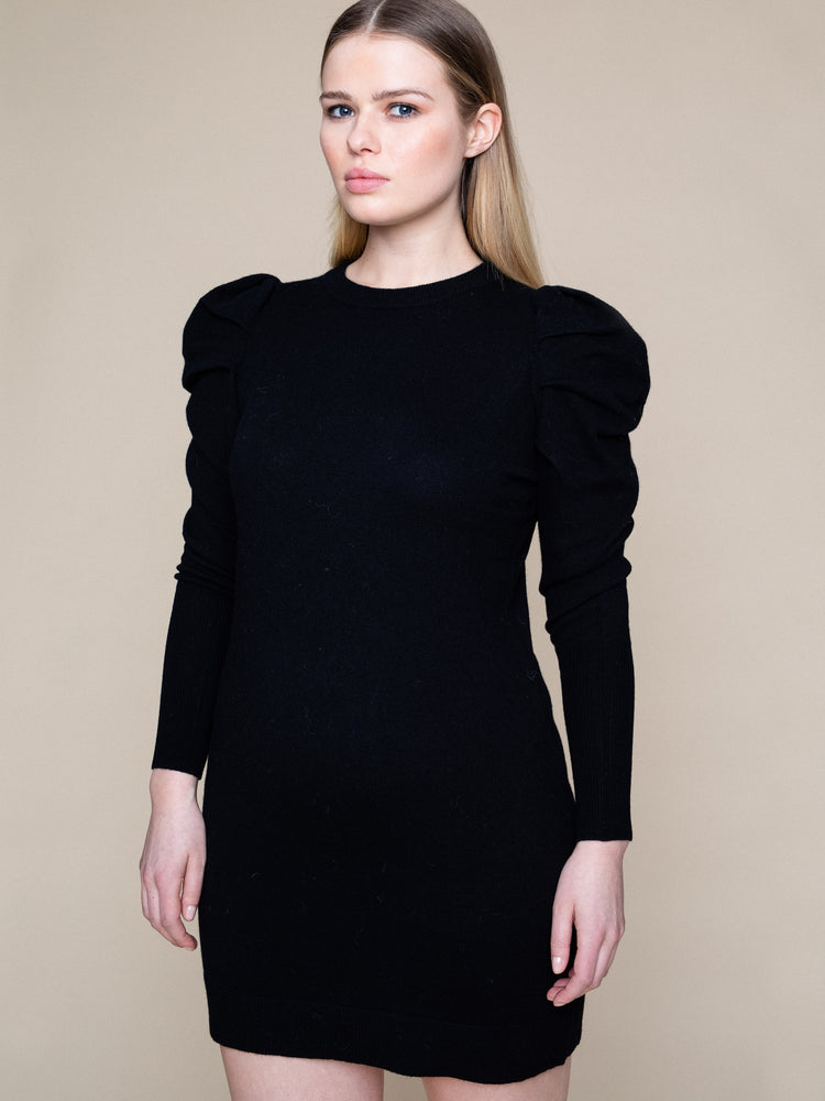 ELLA OG IL ALBERTE WOOL DRESS BLACK