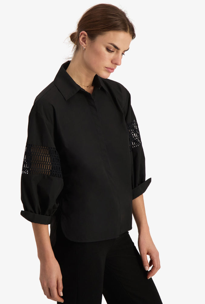 CAMILLA PIHL PUFF SHIRT 20-20 SORT