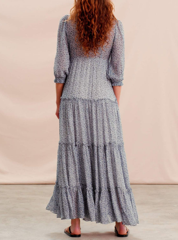 BY TIMO DELICATE SEMI MAXI DRESS PETIT BLUE