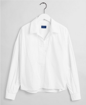 Load image into Gallery viewer, GANT POPOVER RUGGER S SHIRT HVIT