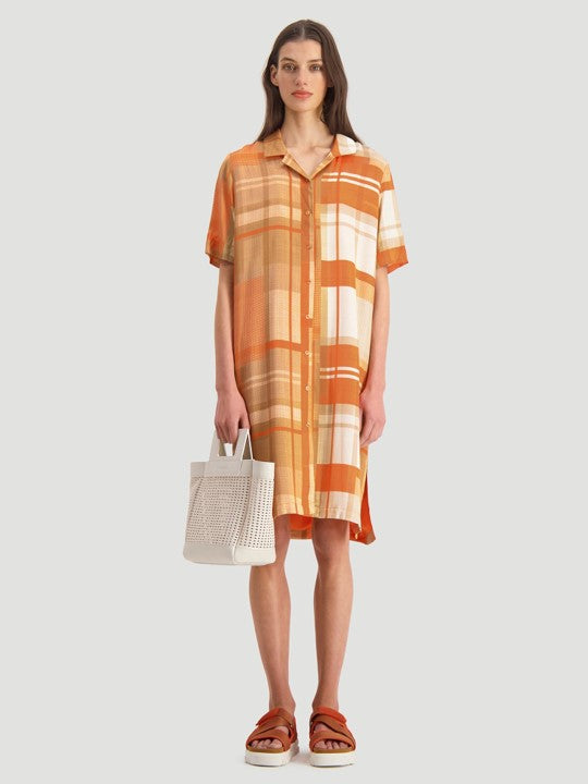 HOLZWEILER KEY DRESS ORANGE CHECK