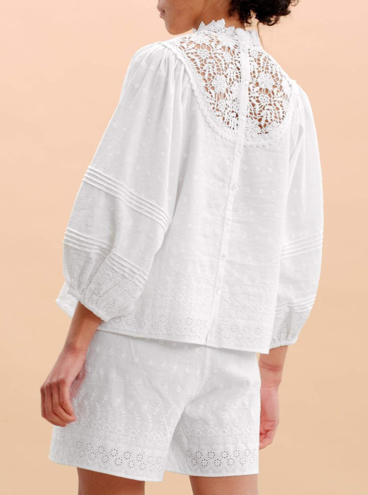 BY TIMO LINEN TOP WHITE