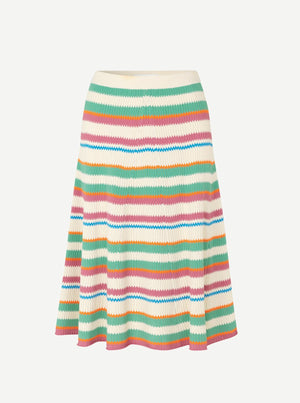Load image into Gallery viewer, SAMSØE MAIK SKIRT 11442 CREME DE MENTH STRIPER