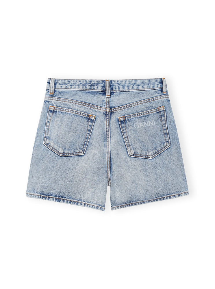 Load image into Gallery viewer, GANNI HIGH-WAISTED SHORTS INDIGO