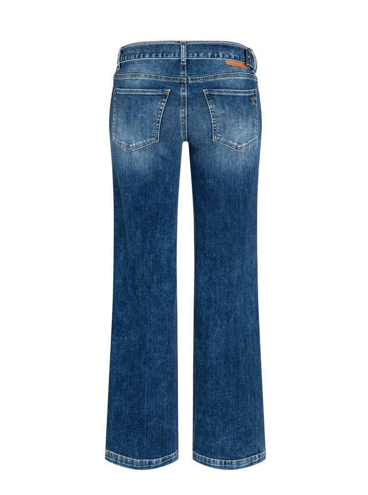 Load image into Gallery viewer, CAMBIO TESS WIDE LEG JEANSBLÅ