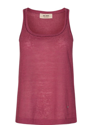 MOS MOSH LAVI LINEN KNIT TANK EARTH RED