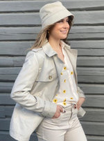 BEAUMONT SHORT TRENCH LYS BEIGE