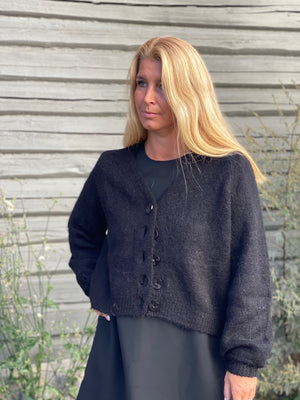 BY TIMO HAIRY KNIT CARDIGAN SORT
