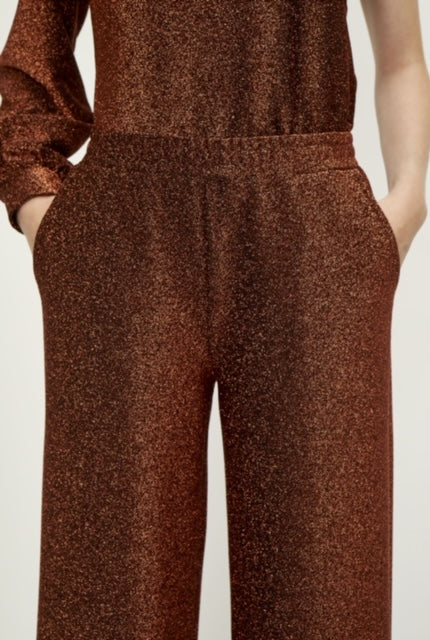 JUST FEMALE FEYE TROUSERS KOBBER/GLITTER