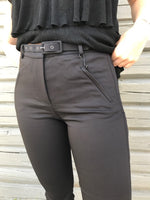 5 UNIT ANGELIE STRAIGHT BELTED PANTS SORT