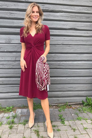 MALENE BIRGER PRICILLA DRESS BURGUNDER