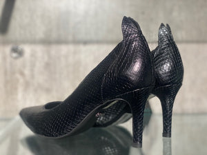 FRONT SOCIETY PUMPS SNAKE BLACK