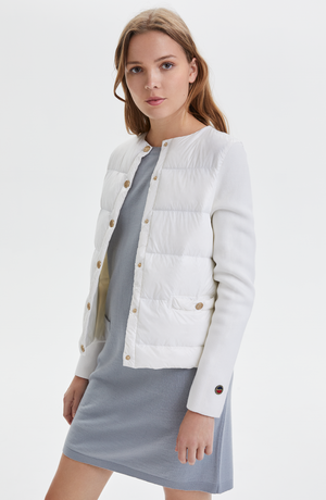 BUSNEL INELLA DOWN JACKET OFF WHITE