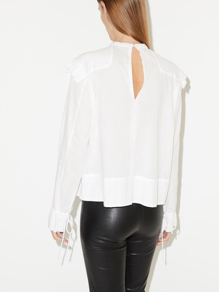 Load image into Gallery viewer, MALENE BIRGER SALINGER BLUSE HVIT