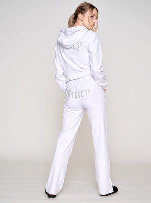 JUICY COUTURE SALLY HOODIE WHITE