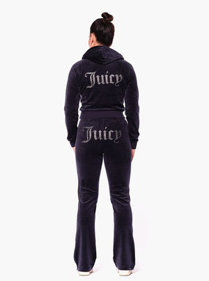 Load image into Gallery viewer, JUICY COUTURE TINA TRACK PANTS BLACK