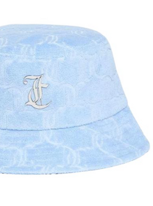JUICY COUTURE ELEANA TOWELLIN BUCKET HAT POWDER BLUE