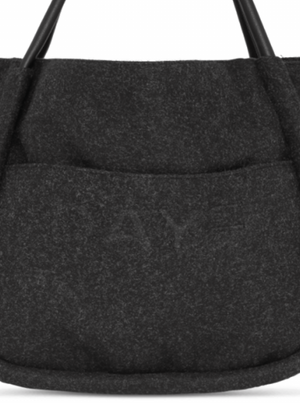 DAY ET WOOLEN SMALL SHOPPER FORGED IRON GREY