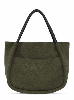 DAY ET WOOLEN SMALL SHOPPER DARK OLIVE