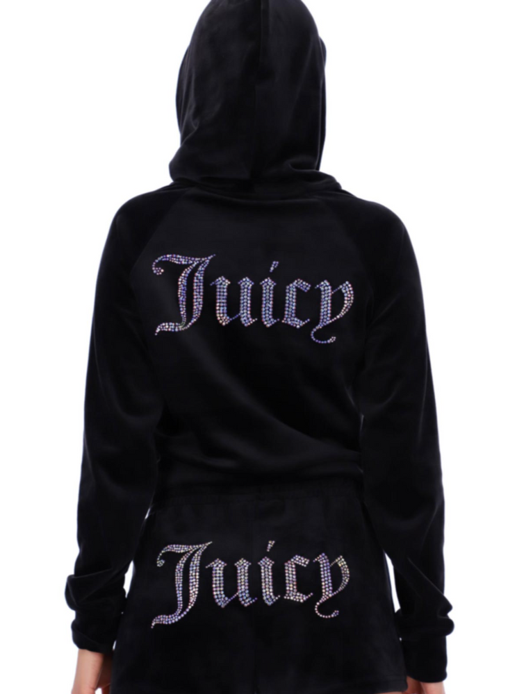 Load image into Gallery viewer, JUICY COUTURE SALLY HOODIE BLACK