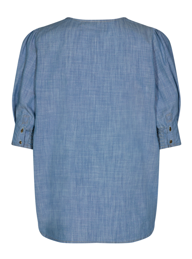 Load image into Gallery viewer, MOS MOSH PHOENIX SKY BLOUSE CHAMBRAY BLUE