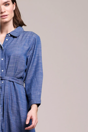 LOLLYS LAUNDRY NICOLE SHIRT DRESS BLUE