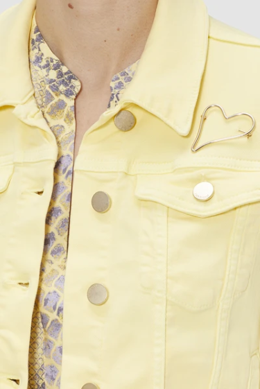 Load image into Gallery viewer, RICH ROYAL DENIM JACKET LEMON