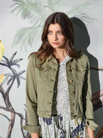 RICH ROYAL DENIM JACKET SAFARI  GREEN