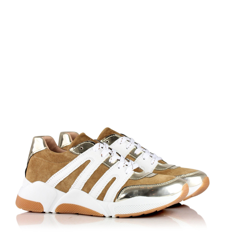 Load image into Gallery viewer, BILLI BI SNEAKER GULL/BEIGE/HVIT