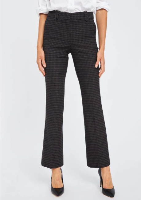 FIVE UNITS CLARA BLACK HOUNDS BOUCLE PANTS