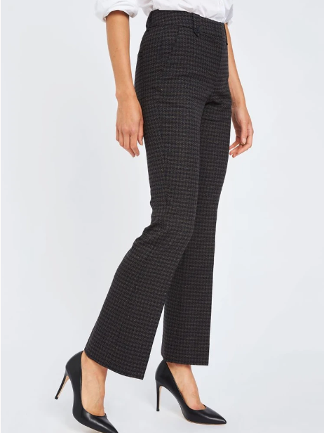 Load image into Gallery viewer, FIVE UNITS CLARA BLACK HOUNDS BOUCLE PANTS
