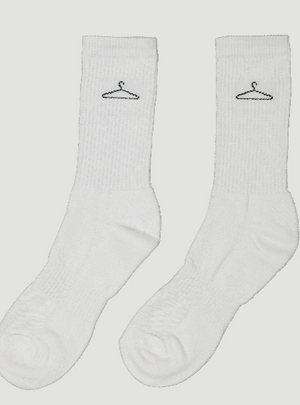 Load image into Gallery viewer, HOLZWEILER HANGER PLAIN SOCK WHITE