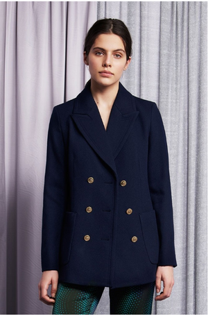 Load image into Gallery viewer, FABIENNE CHAPOT ROLLER JACKET NAVY