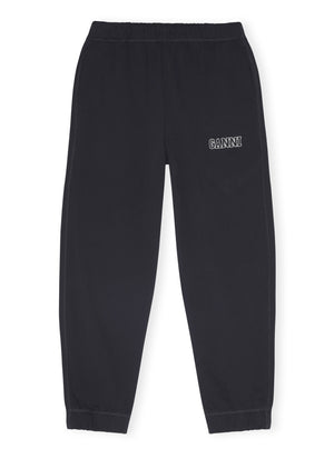 GANNI SOFTWARE ISOLI ELASTICATED PANTS BLACK