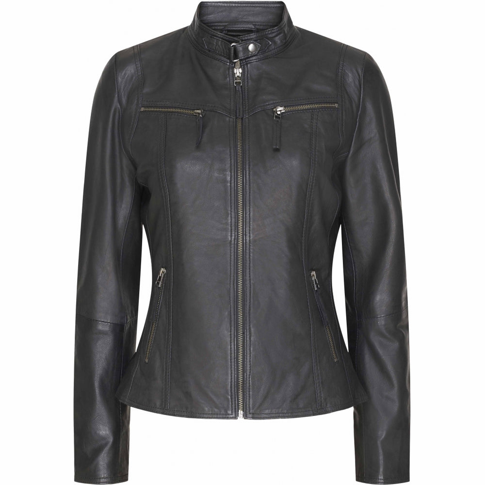 CADDIS FLY LEATHER JACKET SORT